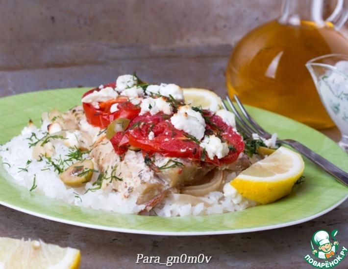 Рецепт: Морской окунь в греческом стиле