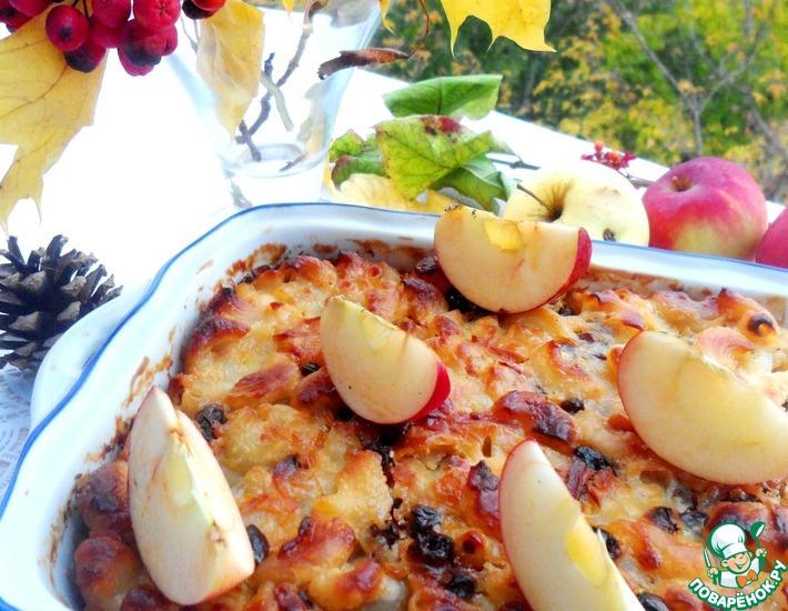 Рецепт: Макаронная запеканка с яблоком и кокосом