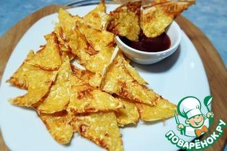 Рецепт: Хрустящие чипсы из лаваша с сыром