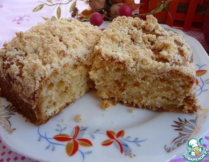 Рецепт: Пирог Яблоневый цвет