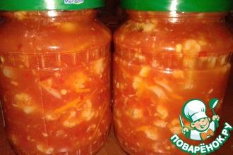 Рецепт: Цветная капуста в соусе на зиму