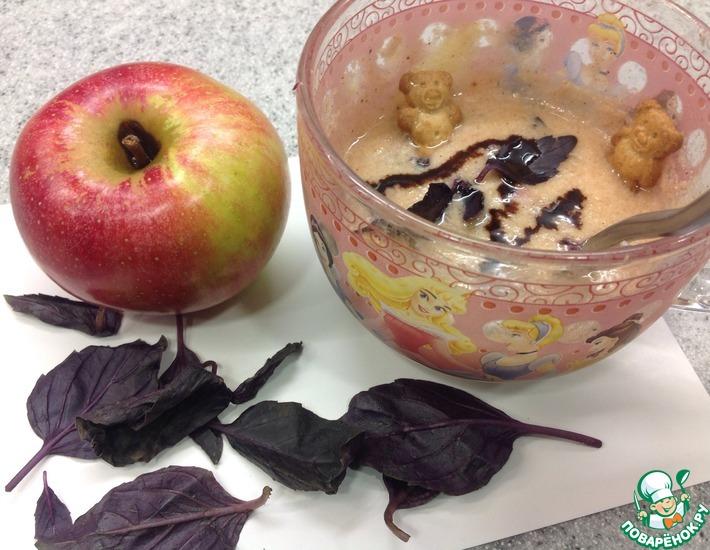 Рецепт: Творожный десерт с яблоком и базиликом