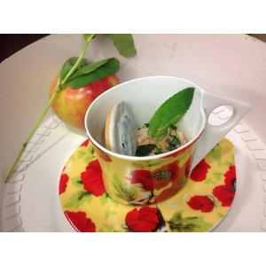 Йогуртовый заварной крем с яблоком и мятой