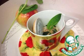 Рецепт: Йогуртовый заварной крем с яблоком и мятой