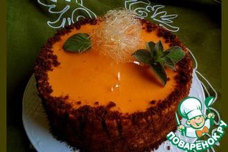 Рецепт: Муссовый торт с тыквой, облепихой и мятой