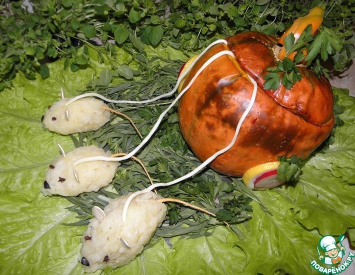 Рецепт: Фаршированная тыква Карета для Золушки