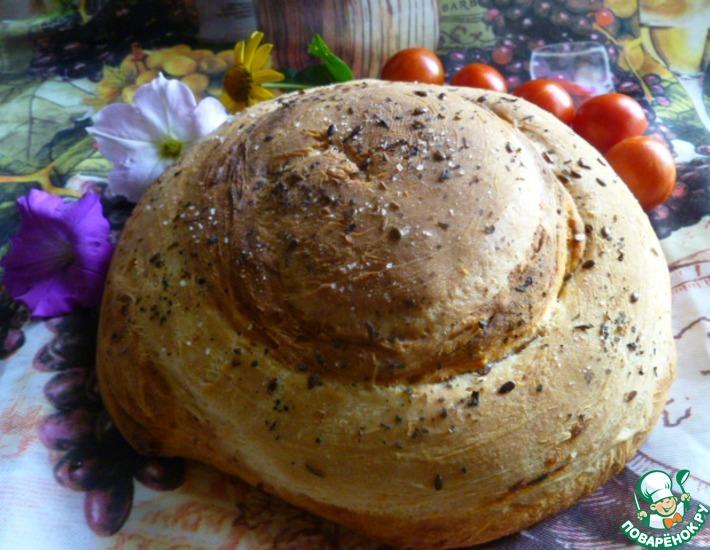 Рецепт: Хлеб с вялеными помидорами