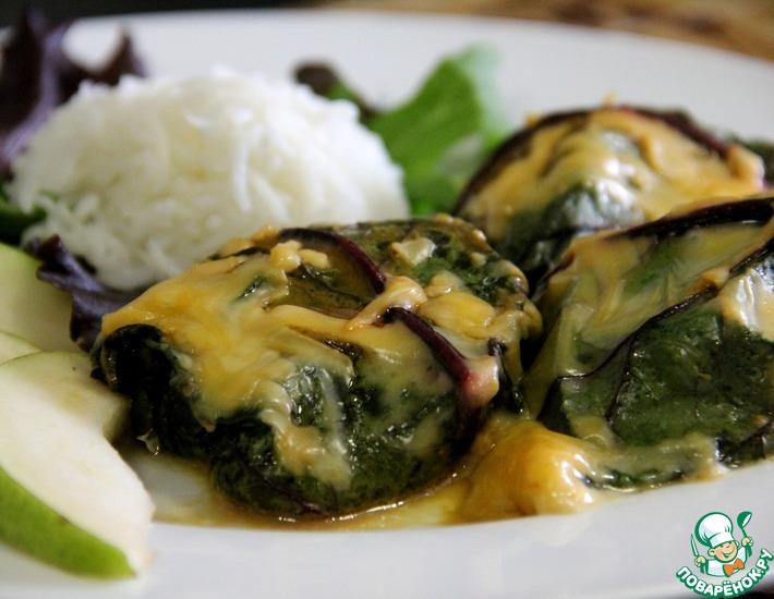 Рецепт: Рыба в свекольных листьях