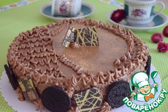 Рецепт: Шоколадный торт на пудинге