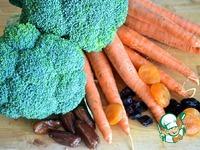Овощной пирог с индейкой и фруктовым соусом ингредиенты