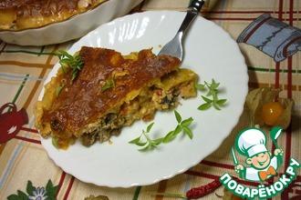 Рецепт: Итальянские каннеллони фаршированные грибами и помидорами