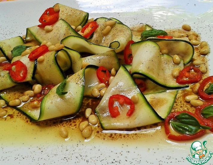 Рецепт: Карпаччо-салат из цуккини