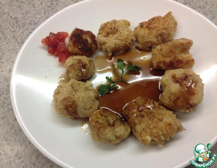 Рецепт: Картофельные крокеты под бальзамическим уксусом