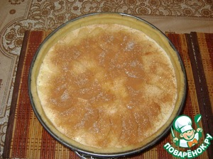 Ванильный сметанник с яблоками и корицей – кулинарный рецепт