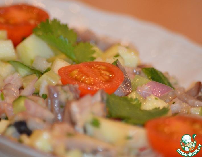 Рецепт: Севиче из слабосоленой сельди