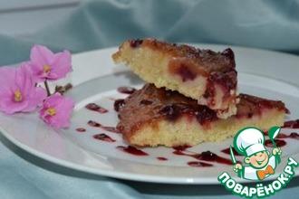Рецепт: Рассыпчатый пирог с грушей и клюквой