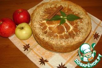 Рецепт: Ванильный сметанник с яблоками и корицей