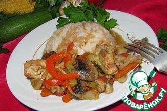 Рецепт: Соте с курицей и грибами ( турецкая кухня)