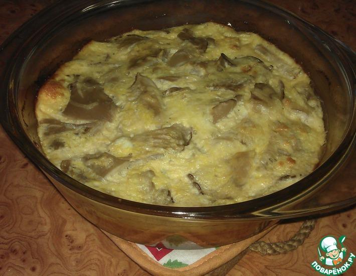 Рецепт: Воздушный омлет с грибами и сыром в духовке