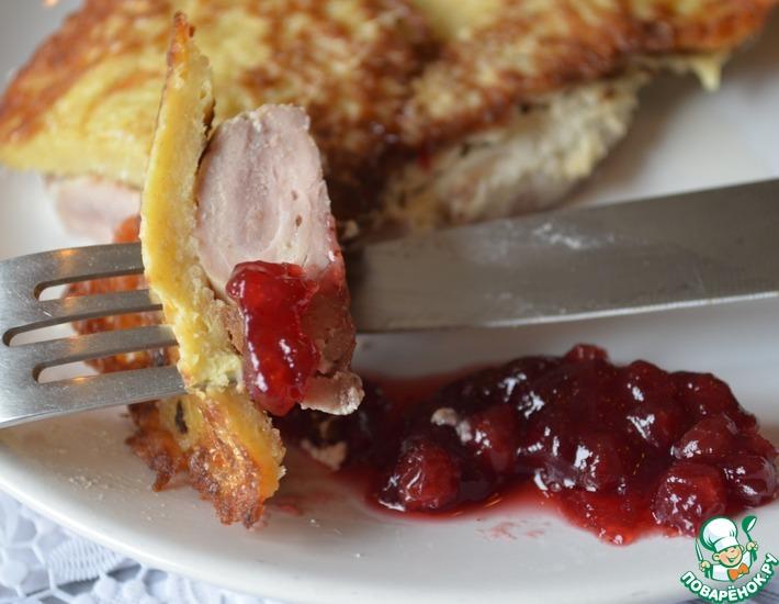 Рецепт: Мясо под драниками Полесье