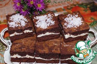 Рецепт: Шоколадно-творожное печенье