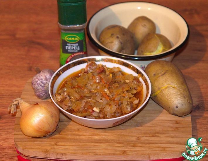Рецепт: Свиная шейка с квашеной капустой по-венгерски