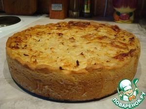 Готовый пирог вынимаем из духовки, остужаем и достаём из формы.
