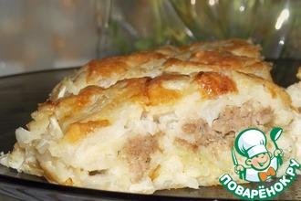 Рецепт: Пирог капустный О-ля-ля