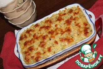Рецепт: Макароны, запеченные с четырьмя сырами