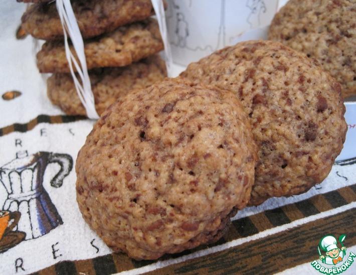 Рецепт: Злаково-конфетное печенье