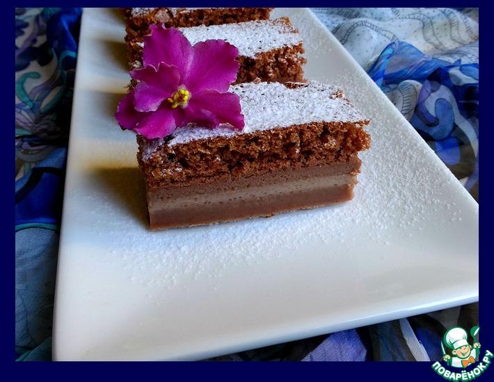 Рецепт: Магическое пирожное шоколадное