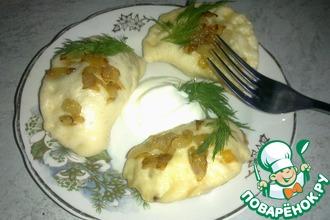 Рецепт: Вареники картофельно-капустные на пару