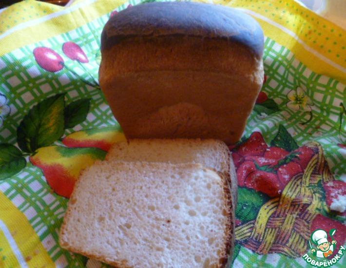 Рецепт: Белый хлеб для бутербродов