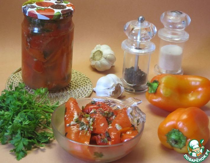 Рецепт: Сладкий перец с чесноком
