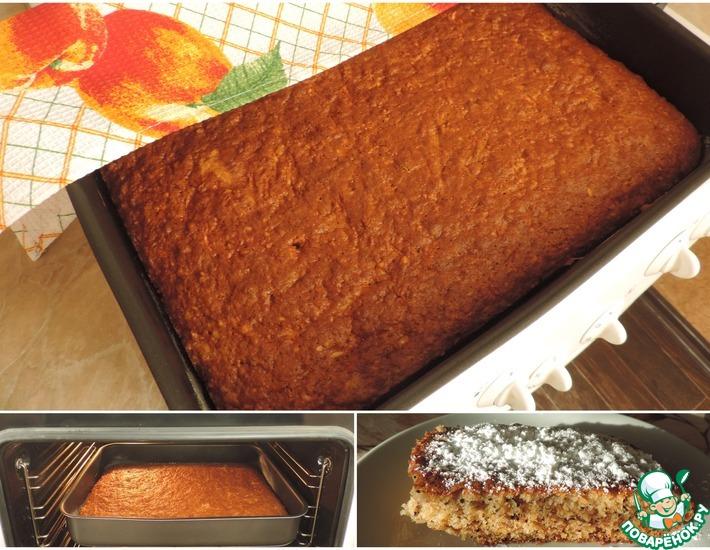 Рецепт: Пирог с тёртыми яблоками и орешками