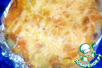 Рецепт: Тилапия под овощной шубой