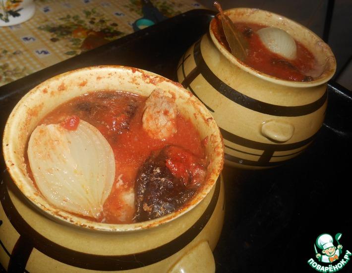 Рецепт: Гороховый суп в горшочке