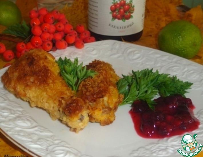 Рецепт: Куриные крылышки под ягодно-цитрусовым соусом