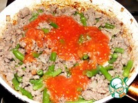 Рис с фаршем и стручковой фасолью ингредиенты