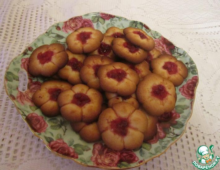 Рецепт: Печенье Брусничное Курабье