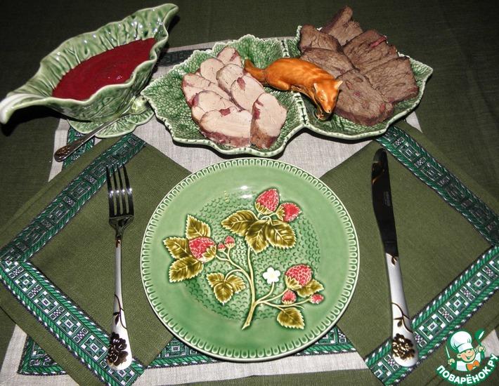Рецепт: Мясо с вишней