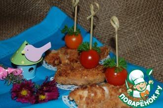 Рецепт: Куриные кебабы с клюквенным соусом Darbo