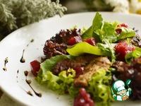 Салат из куриной печени с брусничным желе ингредиенты