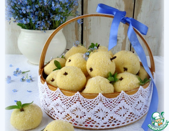 Рецепт: Печенье Маисовое яблоко