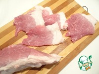 Свиные рулетики с нори с гарниром из риса ингредиенты