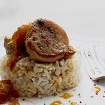 Свиная вырезка в винно-медовом соусе