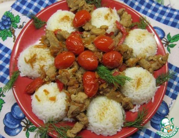 Рецепт: Рис с мясом по-корейски