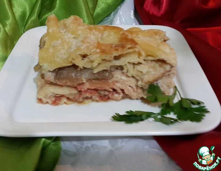 Рецепт: Лазанья рыбная Лучиано