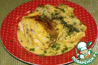 Рецепт: Рыба в кефирно-имбирном маринаде