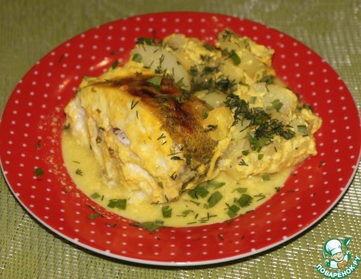 Рецепт: Рыбка в кефирно-имбирном маринаде